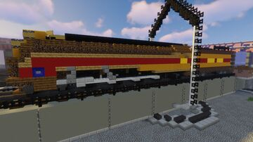 Union Pacific MT-1 #7002 Stream Lined 4-8-2 Minecraft Map & Project