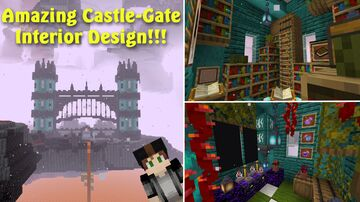 Nether Castle Gate Interior!!! Minecraft Map & Project