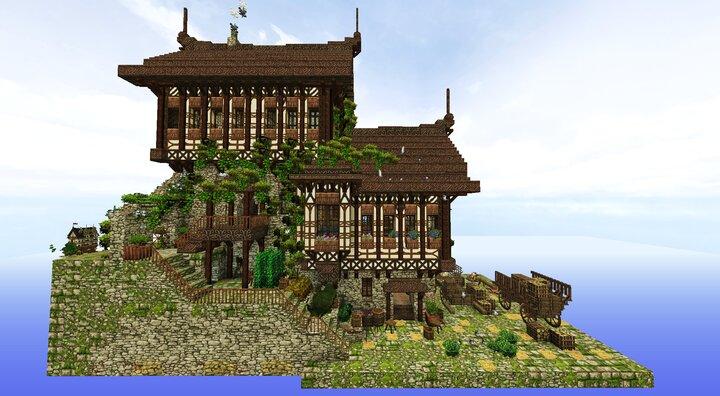 Medieval Split Level Building