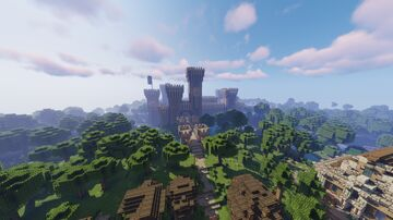 Medieval styled castle, town and camp Minecraft Map & Project