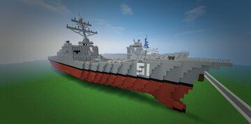 USS Jones Paul Jones DDG-51 Arleigh Burke Class Destroyer Minecraft Map & Project