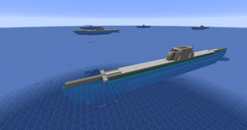 All types of WW2 germany submarines and their modifications (Full interior; 1:1 scale) Minecraft Map & Project