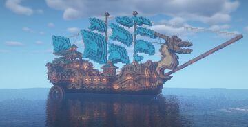 Oriental Boat   Barco Oriental Minecraft Map & Project