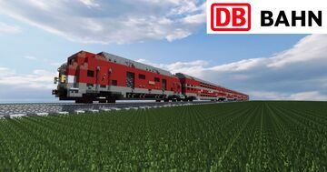 German Bombardier Double-deck Coach Train DB [Full Interior] Minecraft Map & Project