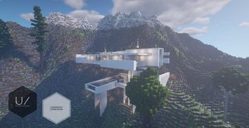 Modern Mountain House Minecraft Map & Project