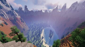 Enclosed Valley Minecraft Map & Project
