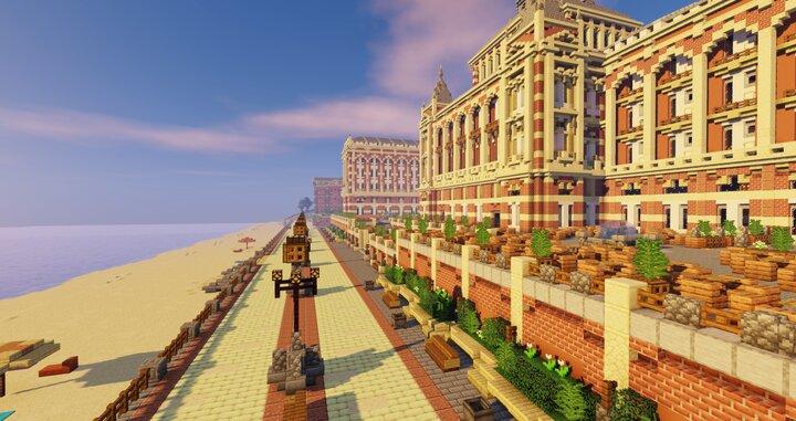 Stroll along the boulevard and enjoy the setting sun