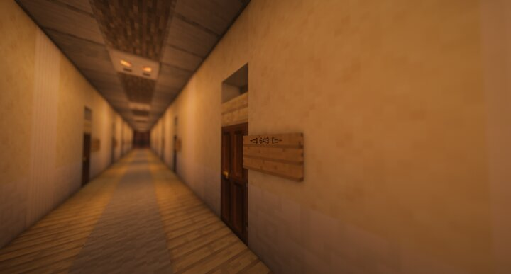 Stroll through the long corridors to find your room