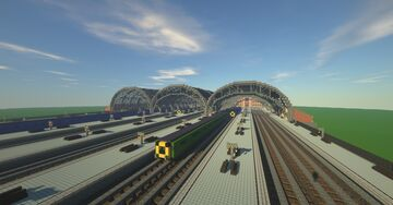 Grand Train Station Minecraft Map & Project