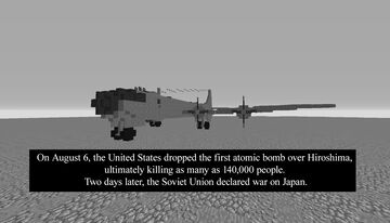 Boeing B-29 Superfortress Minecraft Map & Project