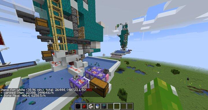 Simple 100,000/h Nether Tree Farm Minecraft Map