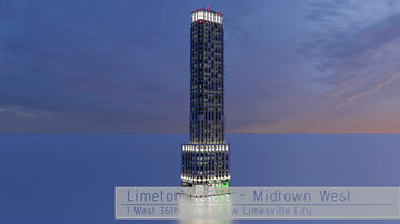 Limeton® Hotels - Midtown West | New Limesville City | NL | UCS Minecraft Map & Project