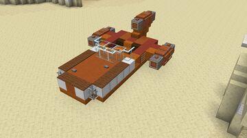 Star Wars - X-34 Land Speeder Minecraft Map & Project