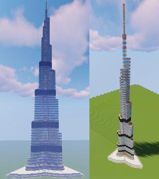 Burj Khalifa (scale 1:3.3) Minecraft Map & Project