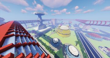 DRAGON BALL WEST CITY REMAKE MAP Minecraft Map & Project