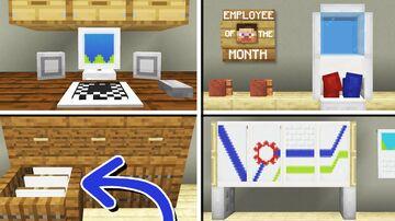 10 Office Furniture Designs & Ideas (No command blocks) Minecraft Map & Project