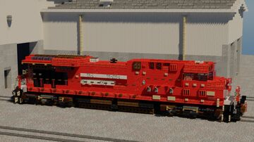 Canadian Pacific Railway GE ES44AC Diesel Locomotive | 1.5:1 Scale Minecraft Map & Project