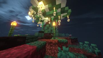 Mystic Warped Tree Hideout Minecraft Map & Project