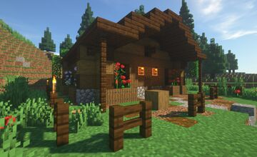 « Lumberjack Cottage - [DOWNLOAD] » Minecraft Map & Project