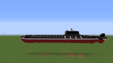Typhoon class Soviet submarine 1/2 scale Minecraft Map & Project