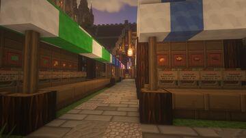 Medieval Market Place // Mittelalterlicher Marktplatz Minecraft Map & Project