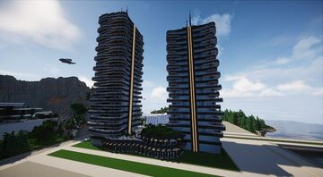 Modern Condos Towers | Capitol | MFC | Minecraft Map & Project