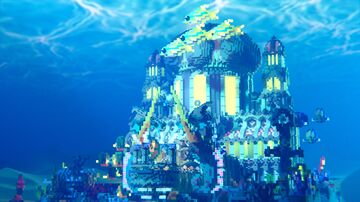 Underwater Water Palace Minecraft Map & Project