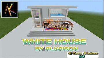 MODERN WHITE HOUSE FOR MINECRAFT PRESIDENT | BY ALKAISON | Team Alkaison MC Minecraft Map & Project