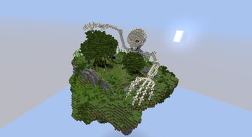 Skeleton in Overworld Spawn Island Minecraft Map & Project