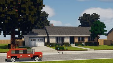 Realistic Mid-Century Ranch 2 Minecraft Map & Project