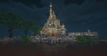 The Castle of Magical Dreams (Hong Kong Disneyland) Minecraft Map & Project