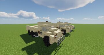 M939 Cargo Truck 1.5:1 Scale Minecraft Map & Project