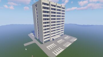 12 Story Apartment Building Minecraft Map & Project