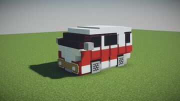 Japanese Mini VW Bus Minecraft Map & Project