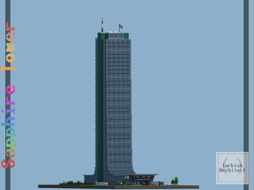 Sapphire Tower, Istanbul Turkey [Full Interior] Minecraft Map & Project