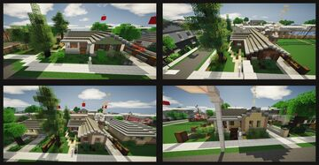 60's/50's bungalows Minecraft Map & Project