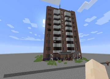 RESIDENCE TOWER APARTMENT | FULL WITH CUSTOMIZABLE INTERIOR Minecraft Map & Project