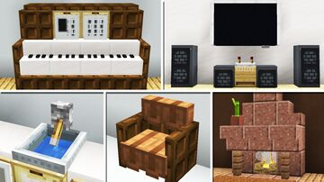 10 Interior Building Designs & Ideas! Minecraft Map & Project