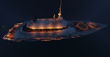 Superyacht Courage [+INTERIOR] Minecraft Map & Project