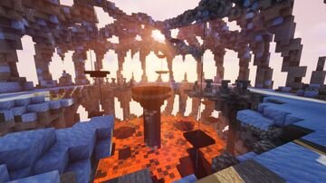 Freezeflame Cavern | 2nd Place SMASH Map Minecraft Map & Project