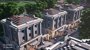 Regency Style Townhouses, Walhampton Minecraft Map & Project