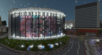 BFI Waterloo IMAX Cinema and Roundabout   Building London 1:1 Minecraft Map & Project