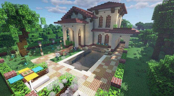 Spanish Villa Back side Map Download