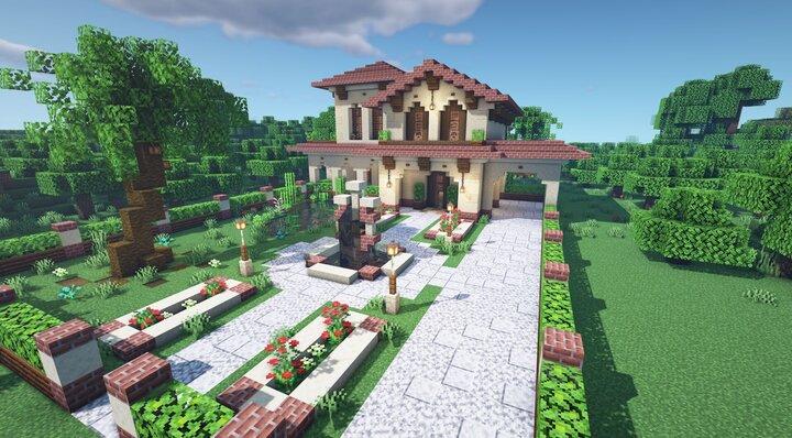 Spanish Villa Front Map Download