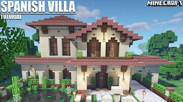 Spanish Villa Tutorial + Map and Schematic Download Minecraft Map & Project