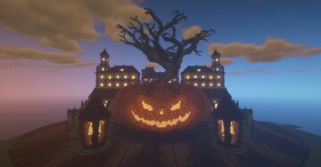 Halloween Pumpkin Mansion Minecraft Map & Project