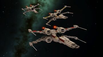 Star Wars - T65B X-Wing | Download Minecraft Map & Project