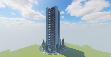 Block of flats Minecraft Map & Project