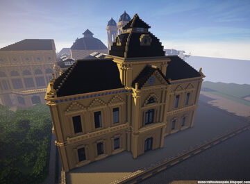 Minecraft replica of the Donostia City Council, Spain. Minecraft Map & Project