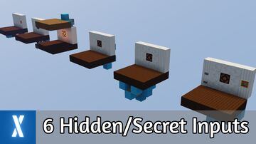 6 Amazing Hidden Redstone Inputs in Minecraft [Now with Download] Minecraft Map & Project